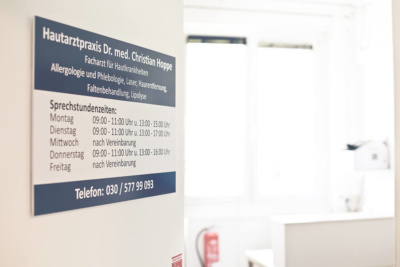 Hautarzt Lichtenberg Berlin - Dr. Hoppe - Sprechzeiten der Praxis